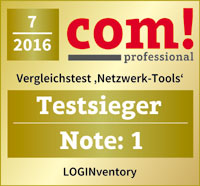 LOGINventory7 Best in Test Network Inventory in com! Professional (7/2016)