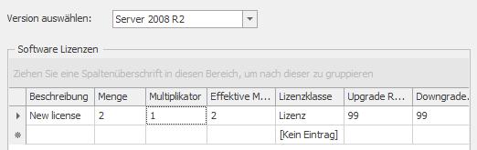 Hinterlegen von Lizenzen für Windows Server 2008R2