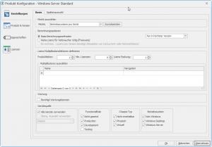 Übersicht der Produkt Konfiguration in LOGINventory