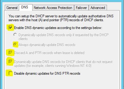 DHCP Einstellungen
