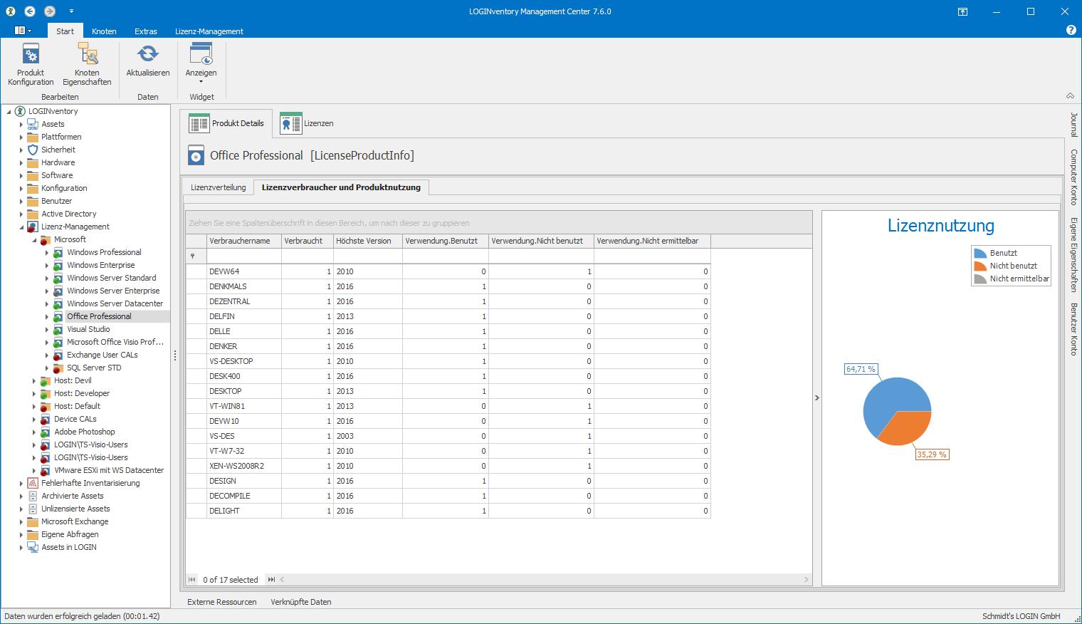 Produktnutzung am Beispiel von Windows Office