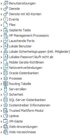 Inventarisierung der Konfiguration