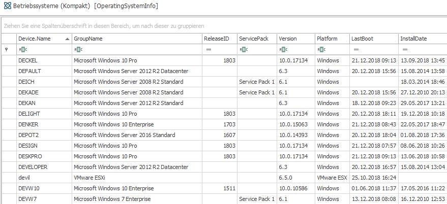 Liste der Betriebssysteme