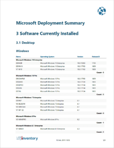 Calculation of key figures that are used for the Microsoft Deployment Summary