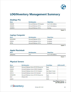 LOGINventory Management Summary