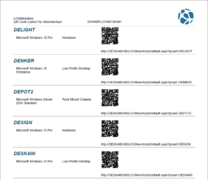 QR Codes to be pinned onto devices with links to the web interface