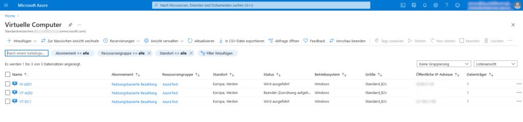 Anlegen von mehren VMs in Azure: Installation des Remote-Scanners & Offline-Agenten auf nur einer VM nötig
