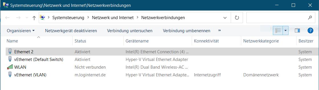 Systemsteuerung mit Netzwerkverbindungen