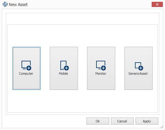 Adding different asset types