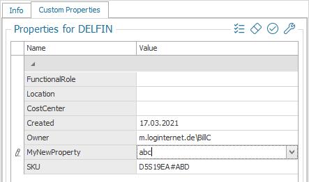 Edit Custom Properties