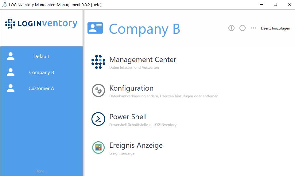 Multitenancy Management with LOGINventory